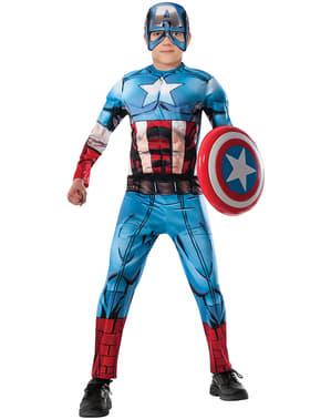 Captain America från Avengers Assemble maskeraddräkt deluxe för pojkar