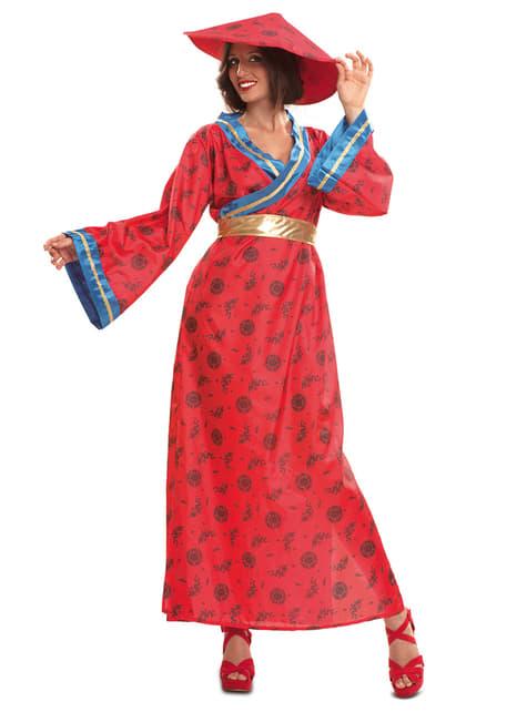 Chinesin Kostüm für Damen