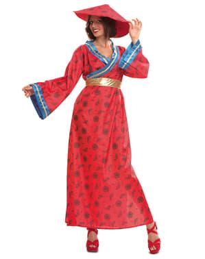 Costum de fată mandarină pentru femeie