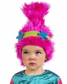 Peluca de troll para niña