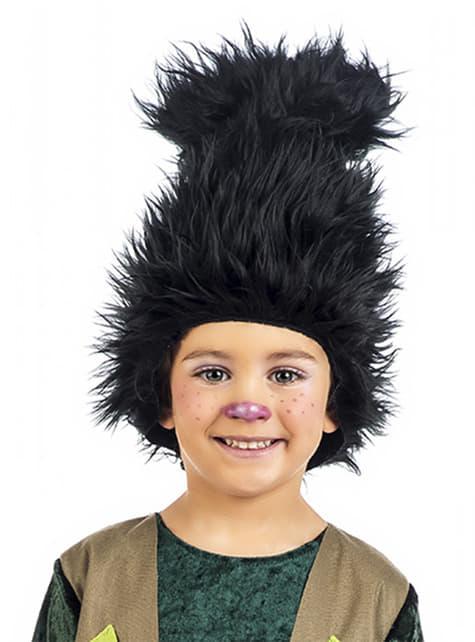 Peluca de troll para niño