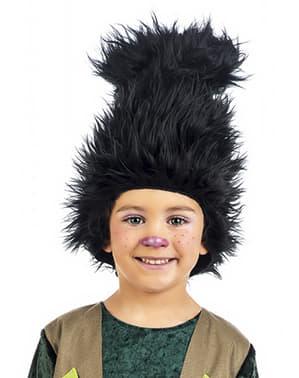 Peruca de troll para menino