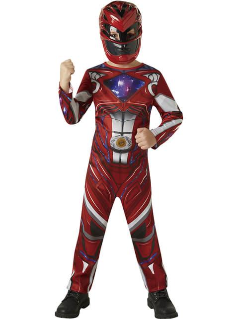Fato de Power Ranger vermelho Movie para menino