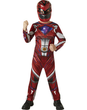 Kostum Film Red Power Ranger Boy