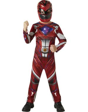 Rød Power Ranger Film Kostyme for Gutter