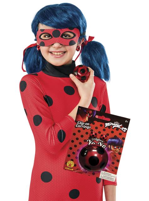 Kit de Ladybug con ioiô e brincos para menina
