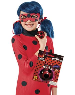 Miraculous: Ladybug og Cat Noir på eventyr sæt med yoyo og øreringe til piger