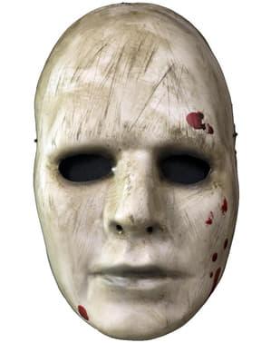 Máscara branca de maníaco ensanguentado para adulto