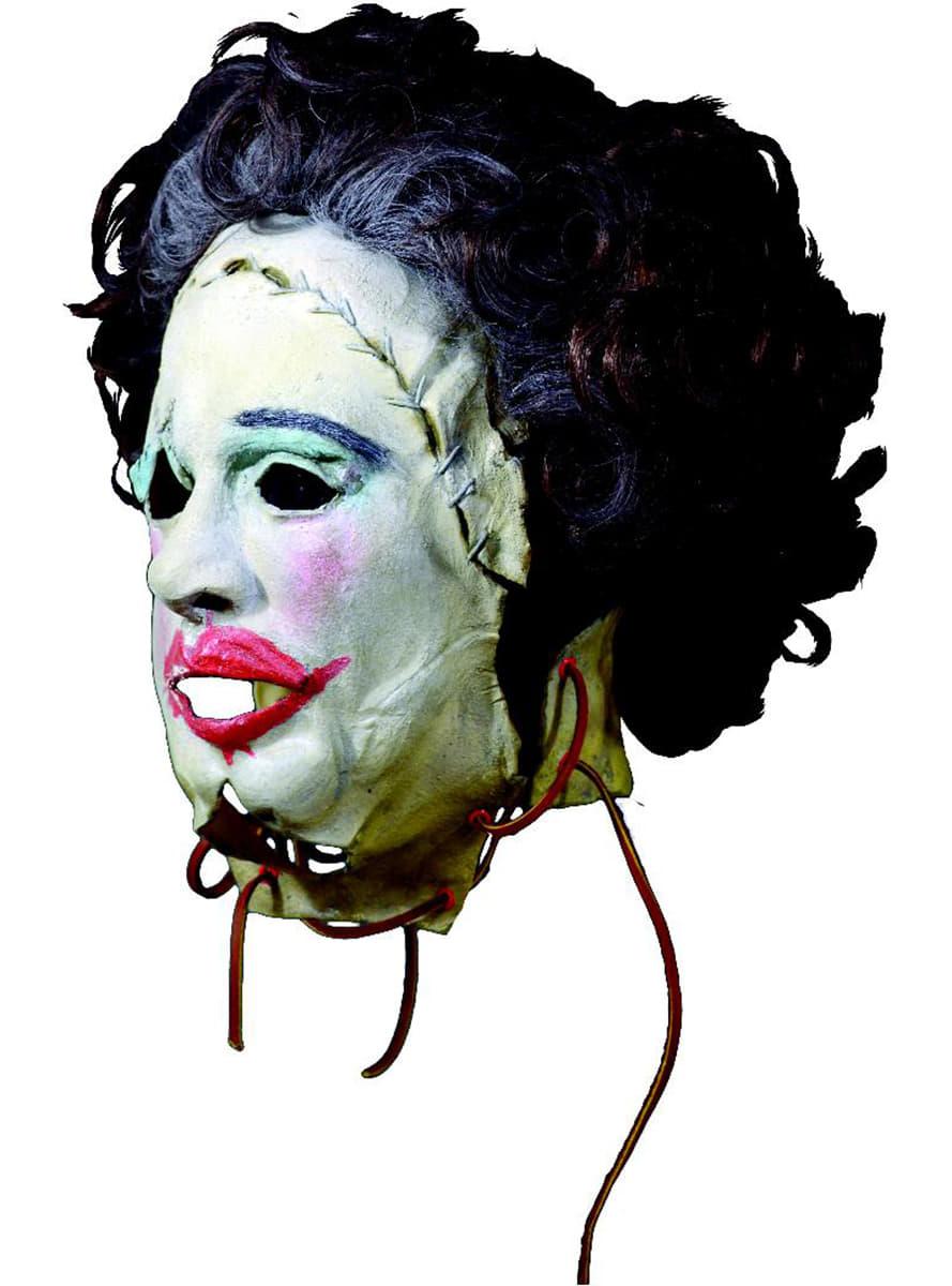 leatherface pretty woman latex maske f r erwachsene aus texas chainsaw massacre f r kost m. Black Bedroom Furniture Sets. Home Design Ideas