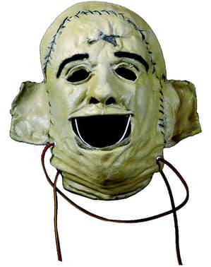 Maschera da Leatherface Saw Non aprite quella porta classico di lattice per adulti