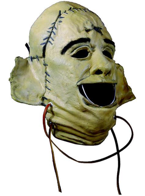 Masque Leatherface Massacre à la tronçonneuse basique en latex adulte