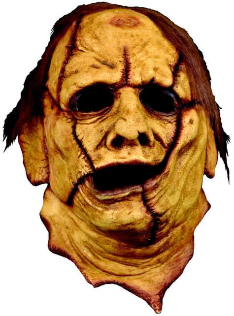 3/4 Leatherface Latex-Maske für Erwachsene aus Texas Chainsaw Massacre