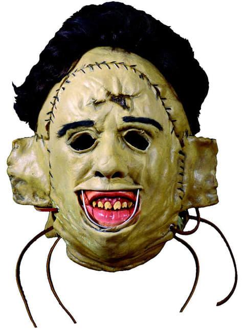 Máscara de Leatherface 1974 Massacre no Texas de látex para adulto
