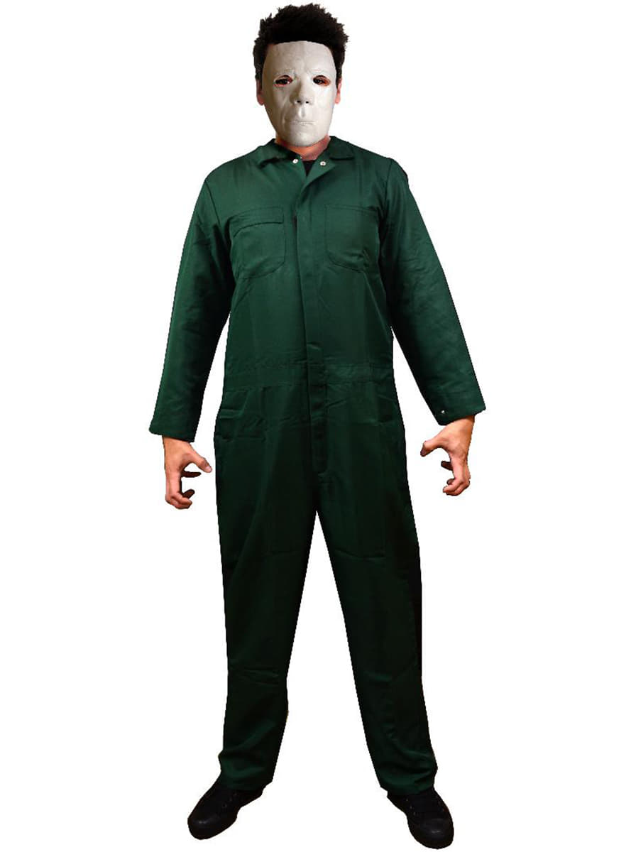 Menu0027s Pine Green Michael Myers Halloween II Costume  sc 1 st  Funidelia : michael myers costume for men  - Germanpascual.Com