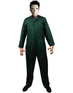 Michael Myers Halloween II kostuum in dennengroen voor heren