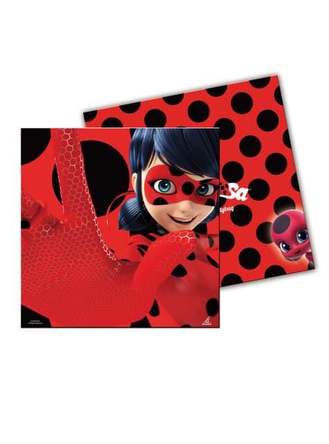 20-teiliges Servietten Set aus Miraculous - Geschichten von Ladybug und Cat Noir
