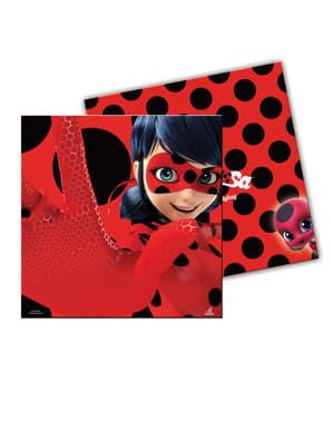 20 stk. Miraculous: Ladybug & Cat Noir på eventyr servietter 20