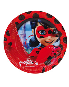 Set of 8 23cm Tales of Ladybug Plates  sc 1 st  Funidelia & Miraculous Ladybug Party . Express delivery | Funidelia