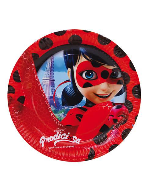 8-teiliges Teller Set 23 cm aus Miraculous - Geschichten von Ladybug und Cat Noir