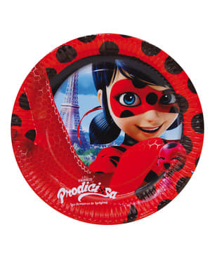 8 tallrikar The Adventures of Ladybug (23cm) - Miraculous