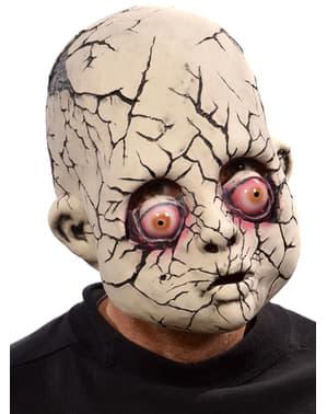 Máscara de boneco rachado para adulto