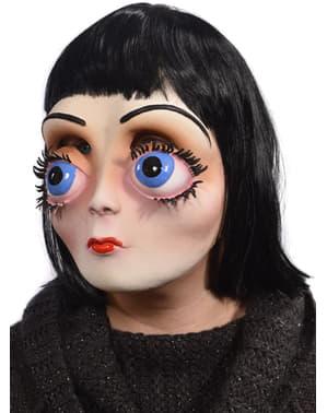 Máscara de boneca com olhos enormes para adulto