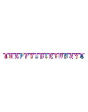 Guirlande Trolls anniversaire