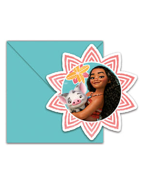 6 Moana Invitations