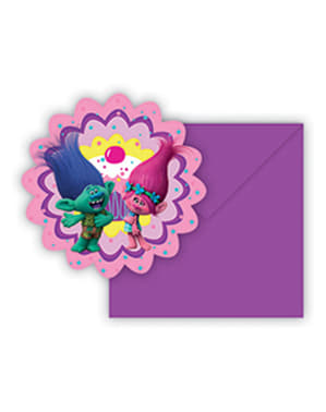 6 invitations Trolls