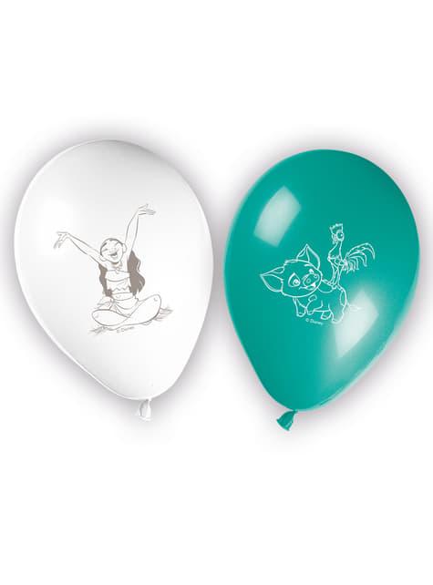 Conjunto de 8 balões Vaiana