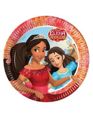 8 Elena a Avalor lemezek (23 cm)