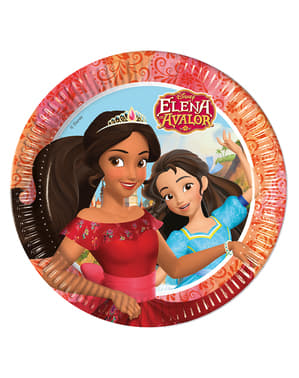 8 Elena of Avalor Plates (23 cm)