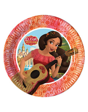 8 Elena of Avalor Plates (20 cm)