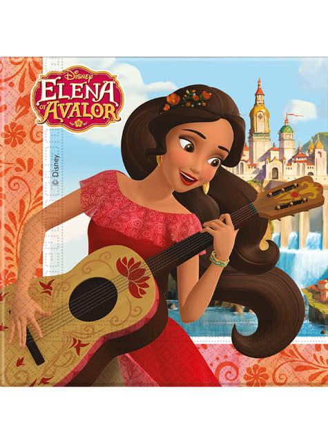 Conjunto de 20 Guardanapos Elena de Avalor