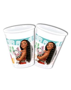 Set om 8 glas med Vaiana