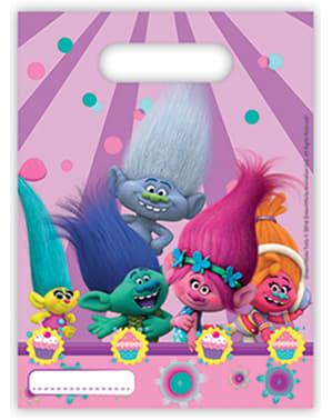 6 bolsas de chucherías Trolls