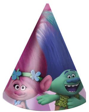6 gorritos de cumpleaños Trolls