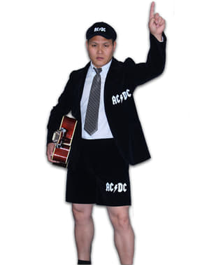 Angus Young AC/DC Kostyme for Mann