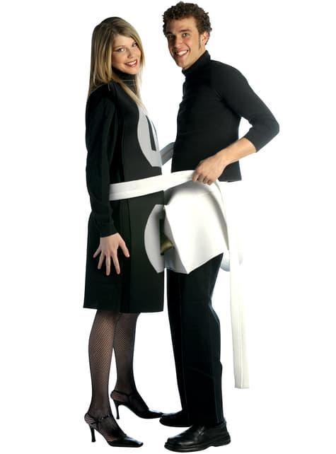 Disfraz de enchufe macho y hembra 2 en 1 para pareja