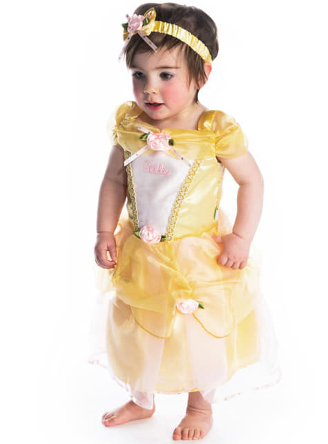 Disfraz de Bella deluxe La Bella y la Bestia para bebé