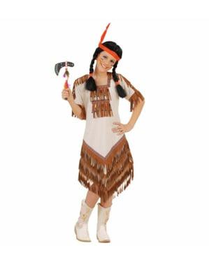 लड़की की अमेरिकी भारतीय पोशाक