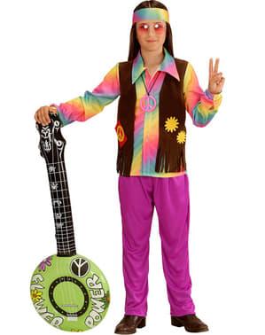 Maskeraddräkt hippie regnbåge för barn