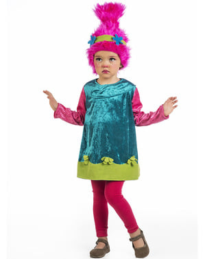 Troll Kostüm rosa für Babys