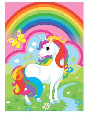 8 db Unicorn party táska - Rainbow Unicorn