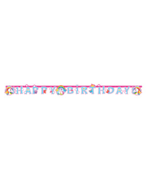 Unicorn Happy Birthday Banner - Rainbow Unicorn