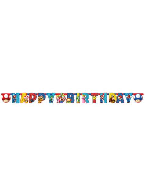 Affiche Happy Birthday Super Mario Bros