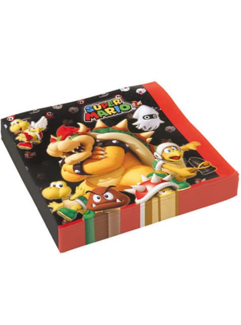 Conjunto de 16 guardanapos Super Mario Bros