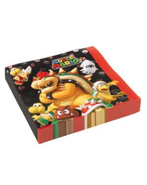 Sett med 16 Super Mario Bros. Servietter