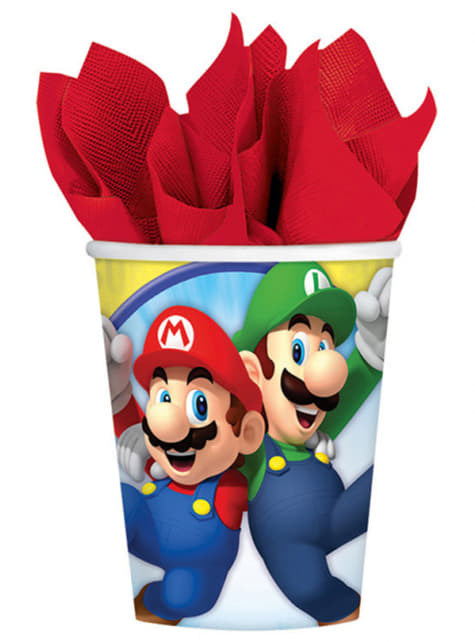 8 vasos Super Mario Bros