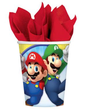 Super Mario Bros Becher Set 8 Stück